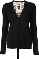No.21 V-neck cardigan - women - Silk/Cotton - 38