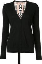 No.21 V-neck cardigan - women - Silk/Cotton - 38