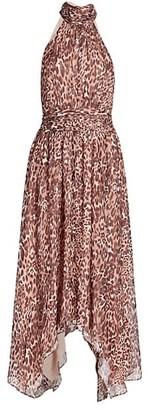 Ramy Brook Leopard Handkerchief Dress
