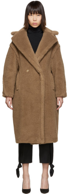 Max Mara Tan Teddy Bear Icon Coat