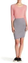 Splendid Shirred Striped Pencil Skirt
