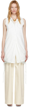 Proenza Schouler White Cotton Sleeveless Shirt