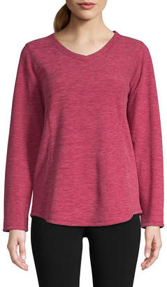 ST. JOHN'S BAY SJB ACTIVE Active V-Neck Polar Fleece Sweatshirt