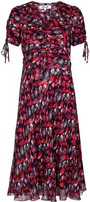 Diane von Furstenberg Eleonora floral-print silk georgette dress