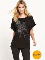 Replay Metal Wire Detail T-shirt - Black