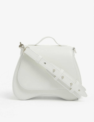 Simone Rocha Bean floral-embellished mini leather shoulder bag