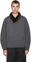 Kolor Grey Stretch-Wool Pullover