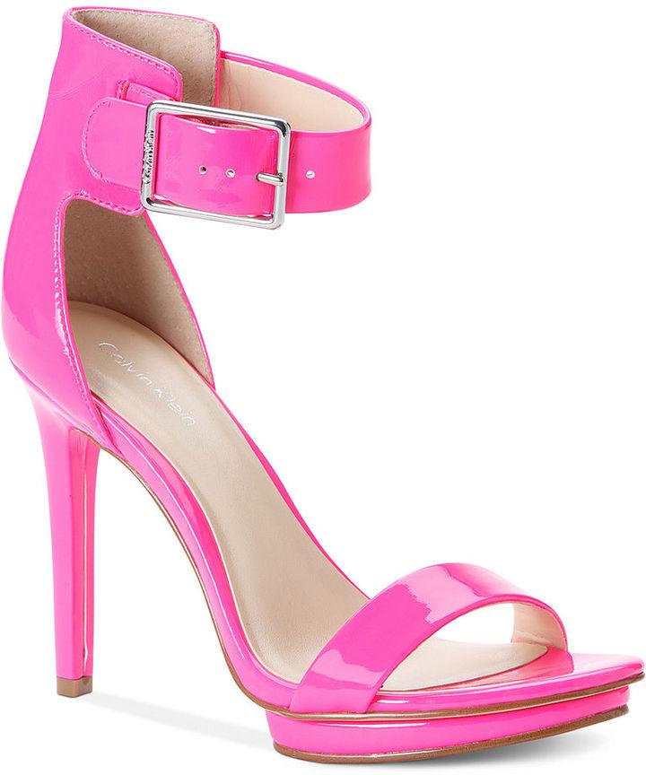 Calvin Klein Women's Shoes, Vivian High Heel Evening Sandals