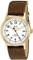 Vestal Men's ABC3C04 Alpha Bravo Canvas Analog Display Japanese Quartz Brown Watch