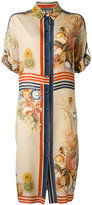 Alberta Ferretti printed silk shirt dress