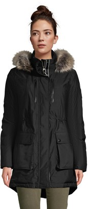 Lands' End Petite Expedition Faux-Fur Hood Waterproof Down Winter Parka
