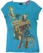 Disney Big Girls marine Hannah Montana Guitar Printed T-Shirt Plus Size 18.5