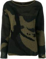 Rag & Bone camouflage pattern jumper
