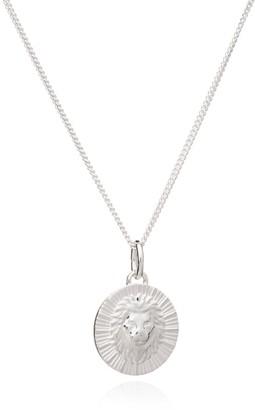Rachel Jackson London Zodiac Art Coin Leo Necklace Silver