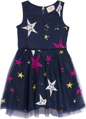Hannah Banana Embroidered Star Fit & Flare Dress