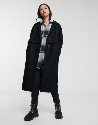Dr. Denim Debbie Coat in black