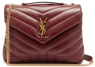 Saint Laurent Loulou Quilted-leather Cross-body Bag - Burgundy