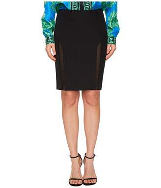 Versace Sheer Panel Skirt