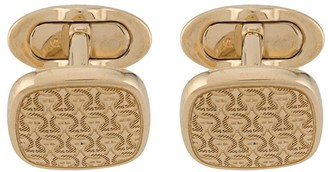 Salvatore Ferragamo Gancini engraved cufflinks
