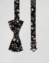 Asos Bow Tie In Ditzy Floral