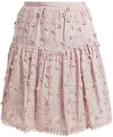 See by Chloe Embroidered mini skirt