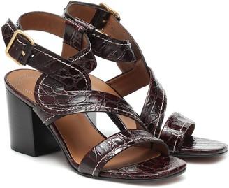 Chloé Candice croc-effect leather sandals