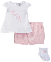 Absorba Tee, Short, & Socks Set (Baby Girls)