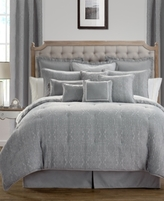 Waterford Carlisle Platinum Reversible King Comforter Set