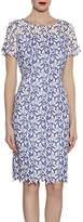 Gina Bacconi Stitch Leaf Embroidery Dress, Hyacinth