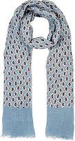 Barneys New York MEN'S IKAT-INSPIRED LINEN-COTTON SCARF