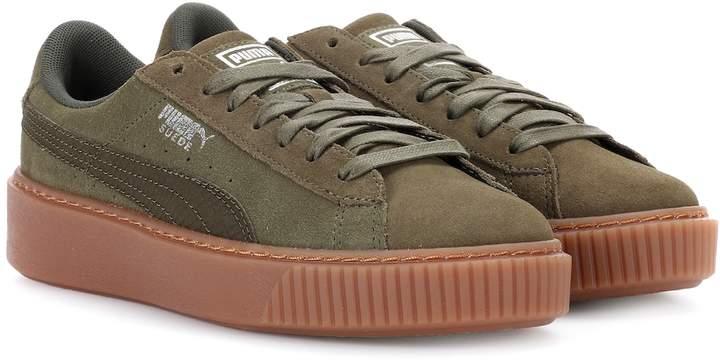 100% authentic 6d131 6204e Basket Platform suede sneakers