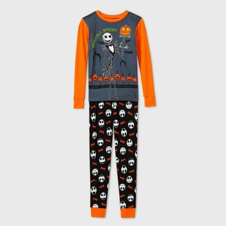Boys' The Nightmare Before Christmas Jack Skellington Tight Fit 2pc Pajama Set -