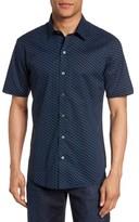 Zachary Prell Men's Print Short Sleeve Sport Shirt