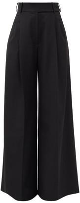 Alexandre Vauthier High-rise Wool Wide-leg Trousers - Black