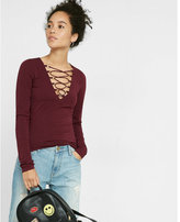Express Lace-up Long Sleeve Tee