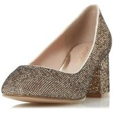 Dorothy Perkins Womens *Head Over Heels By Dune 'Agnitha' Gold Mid Heel Shoes- Gold