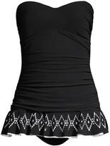 Gottex Swim Bandeau Diamond Print Swim Dress