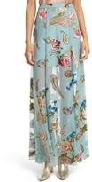 Alice + Olivia Women's Athena Floral Silk Maxi Skirt