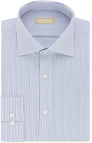 Michael Kors Men's Slim-Fit Non-Iron Blue Stripe Dress Shirt
