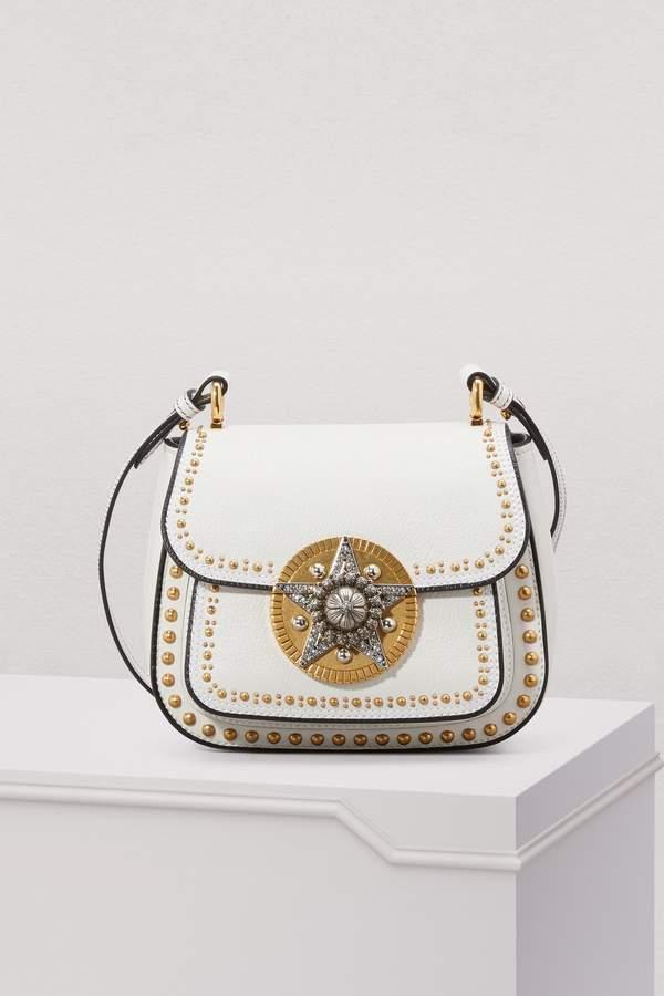 Miu Miu Dahlia Star Leather Crossbody Bag
