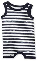 Coccoli Tank Top Stripe Romper in Navy