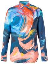 Alexander McQueen paint brushed effect shirt