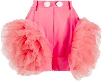 Loulou Ruffled Tulle Shorts
