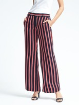 Banana Republic Blake-Fit Stripe Wide-Leg Pant