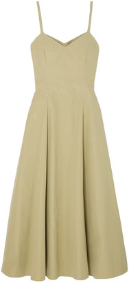 Three Graces London Aveline Cotton-poplin Midi Dress