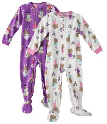 Carter's JUST ONE YOU® Made by Infant Toddler Girls' Footed Blanket Sleeper Set