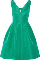 Oscar de la Renta Cutout silk-faille dress