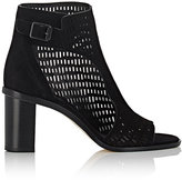 Zero Maria Cornejo Women's Fern Perforated Suede Ankle Boots-BLACK