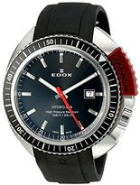 Edox Unisex Analogue Watch with Black Dial Analogue