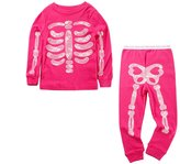 Mud Kingdom Glow in the Night Girls' Skeleton Pajama Sets